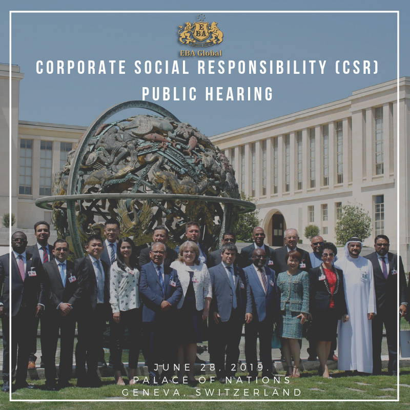 Corporate Social Responsibility (CSR) Public Hearing Palace of Nations, Geneva, Switzerland 28 June, 2019