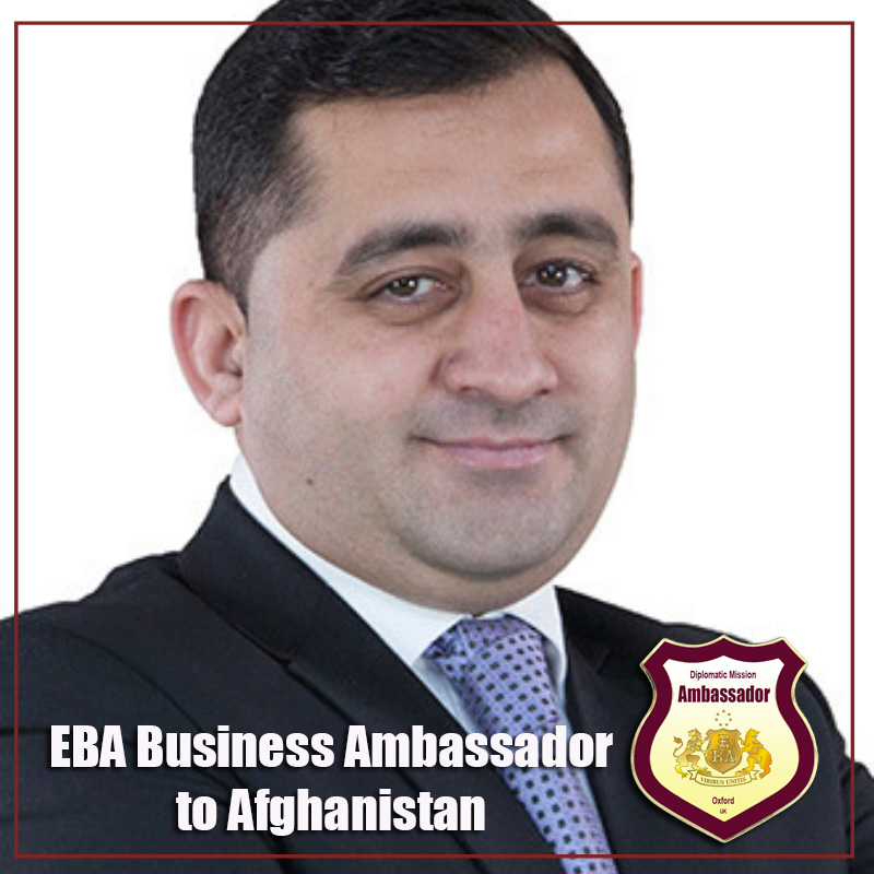 Dr. Mohammad Salem Omaid, President and Chief Executive Officer, Azizi Bank, is going to represent investment attractiveness of Afghanistan on the international level as  EBA Business Ambassador to Afghanistan.