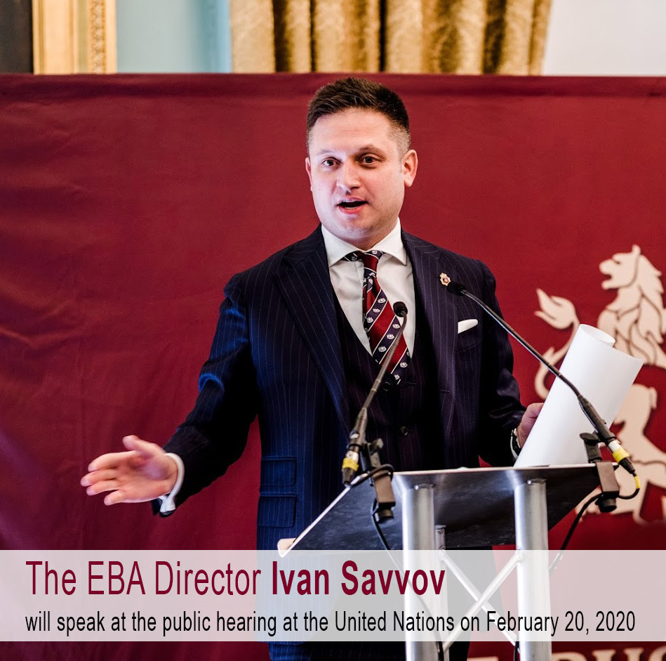 The Director of the European Business Assembly Ivan Savvov will speak at the UN
