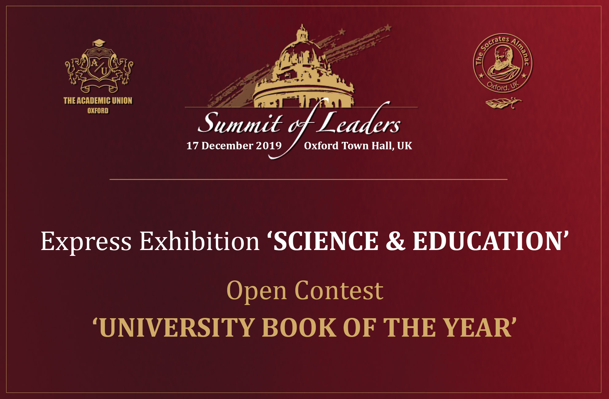 The contest 'University Book of the Year – 2019'