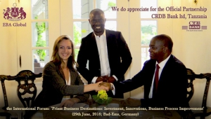 Welcome CRDB BANK, Tanzania as the Official Partner of the Forum in Bad Ems, Germany